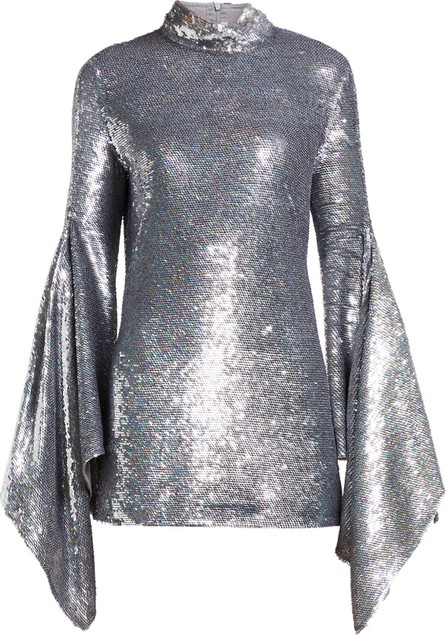 ASHISH Gaia drape-sleeve sequinned mini dress