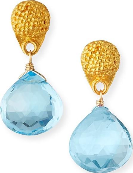 Dina Mackney Mismatched Colorblock Petite Topaz Drop Earrings