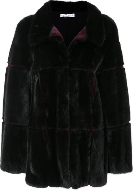 Oscar De La Renta Stand-up collar fur coat
