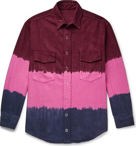The Elder Statesman Tie-Dyed Denim Overshirt