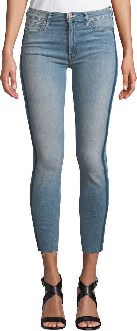 MOTHER Stunner Skinny Step-Hem Frayed Jeans with Racer Stripes