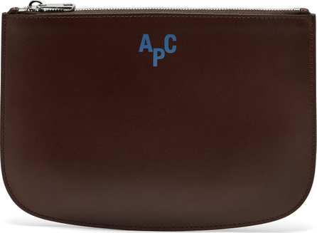 A.P.C. Jayson logo-embellished leather pouch