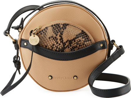 See By Chloé Rosy Mini Round Saddle Shoulder Bag
