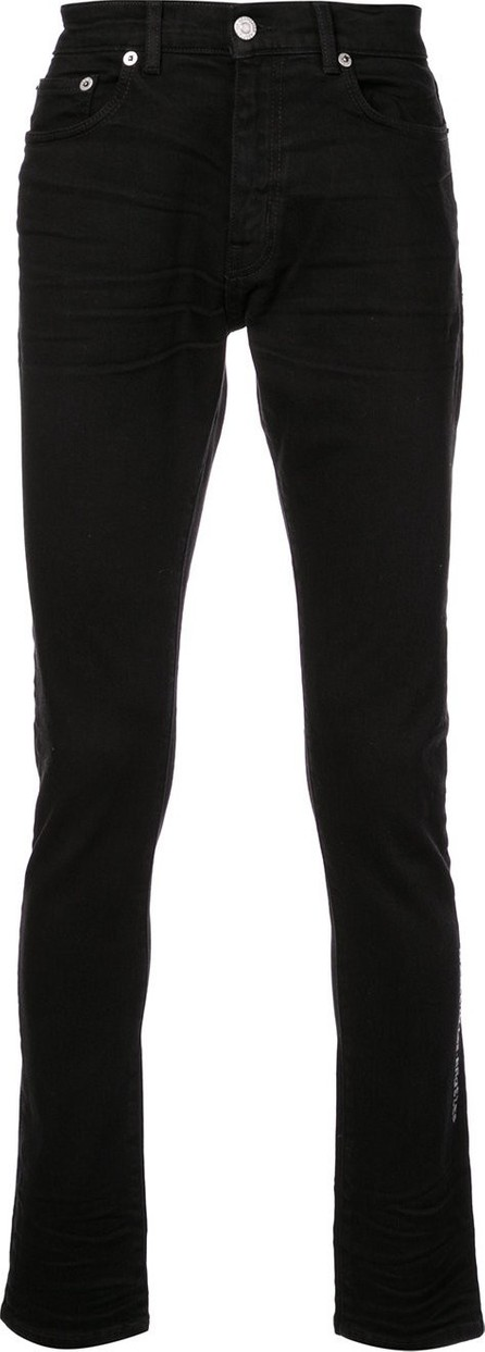 Adaptation side embroidery skinny jeans