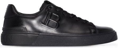 Balmain B-Court embossed low-top sneakers