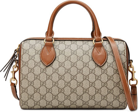 Gucci GG Supreme Small Top-Handle Bag, Beige