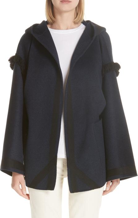 Sofie D'hoore Cyrene Fringe Double Face Wool & Cashmere Coat
