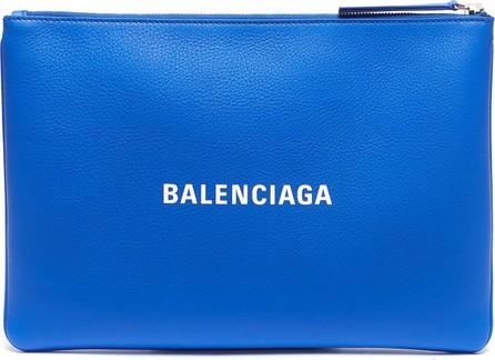 Balenciaga 'Everyday' logo print medium leather pouch