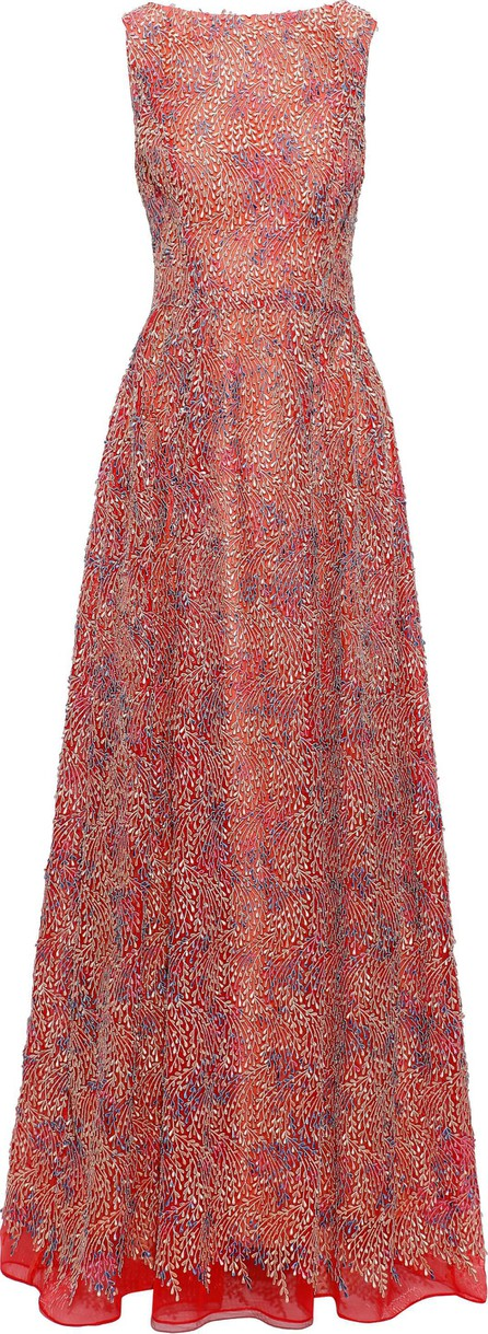 Carolina Herrera Appliquéd organza gown