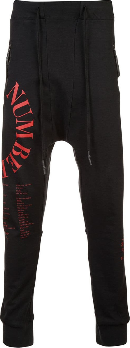 11 By Boris Bidjan Saberi Logo print drop-crotch trousers