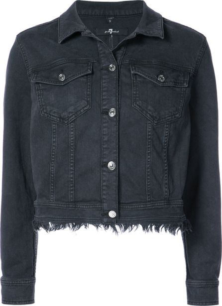 7 For All Mankind cropped raw edge jacket