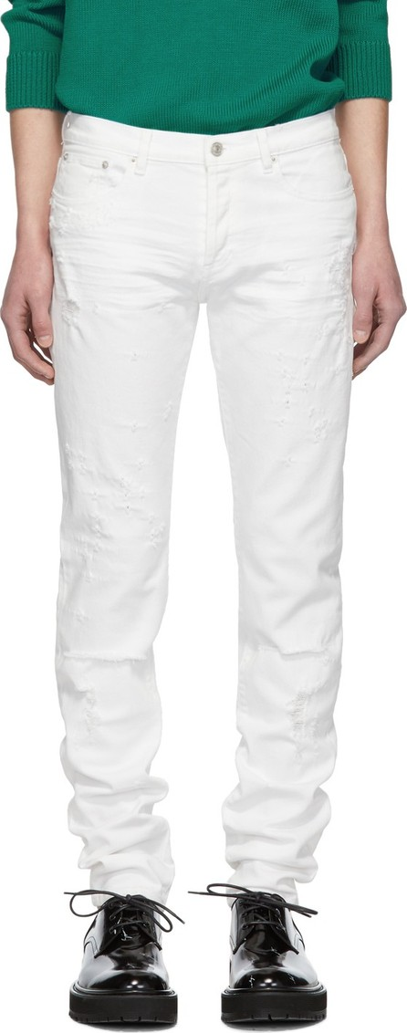 Givenchy White Distressed Jeans