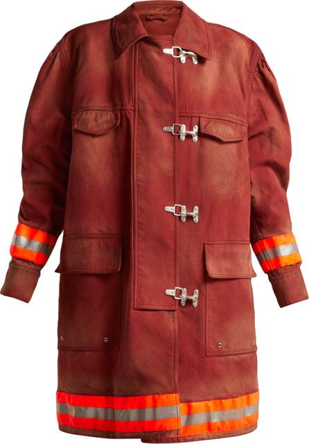Calvin Klein 205W39NYC Oversized cotton-twill firefighter coat