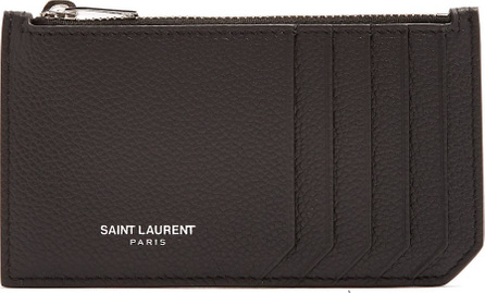 Saint Laurent Fragments grained-leather cardholder
