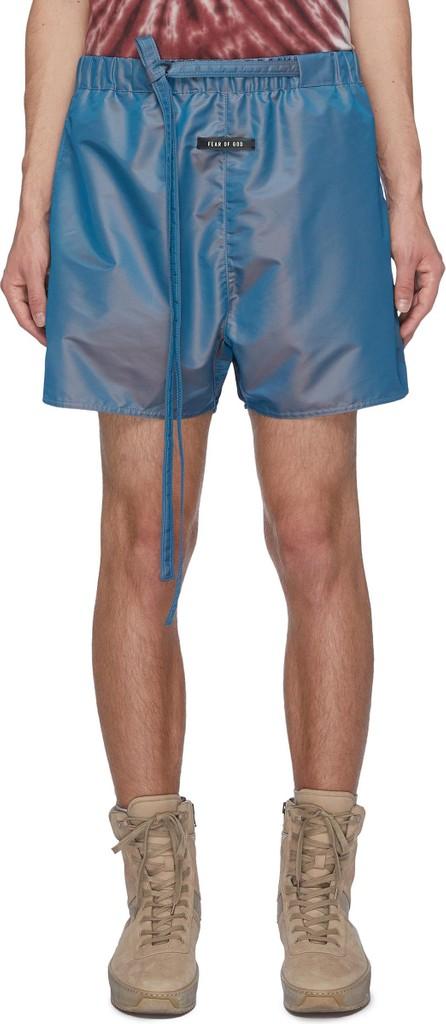 Fear of God Drawstring slogan embellished training shorts