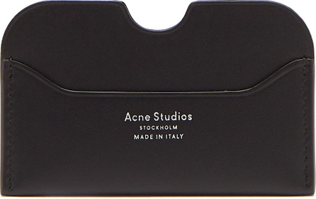 Acne Studios Elmas S logo leather cardholder