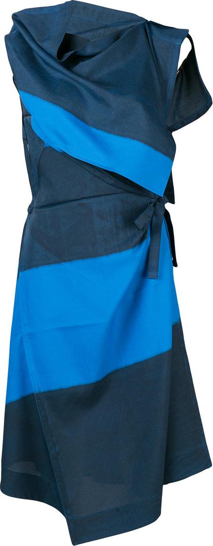 Issey Miyake Oblique dye wrap dress