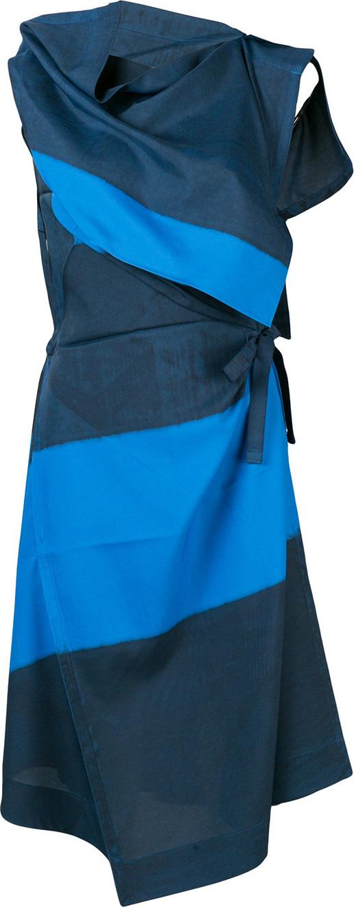 Issey Miyake - Oblique dye wrap dress