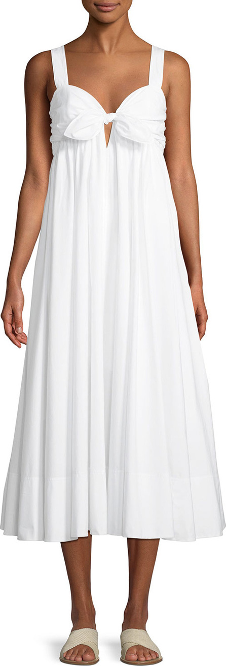 A.L.C. Iris Tie-Front Cotton Midi Dress