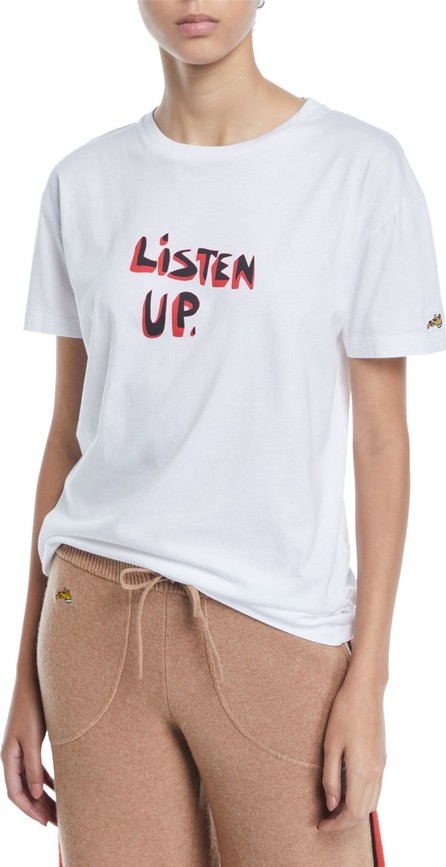 Bella Freud Listen Up Crewneck Tee