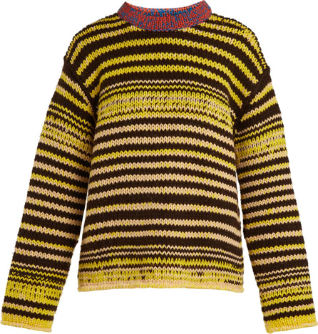 Calvin Klein 205W39NYC Television striped wool sweater