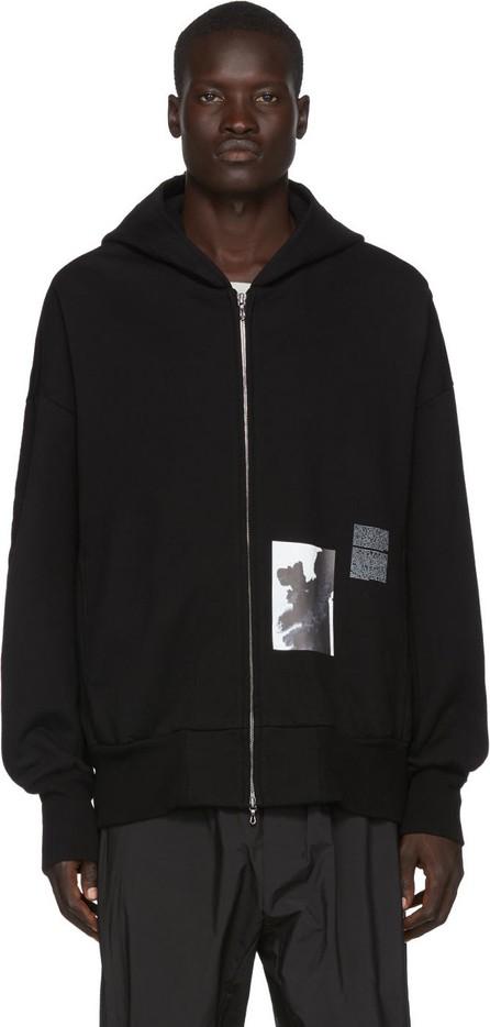 Julius Black Graphic Zip-Up Hoodie