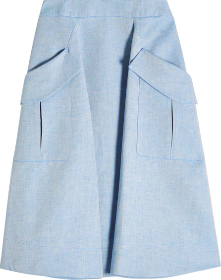 Carven A-Line Skirt with Oversized Pockets