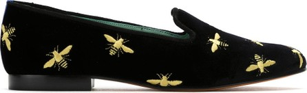 Blue Bird Shoes Embroidered velvet loafers