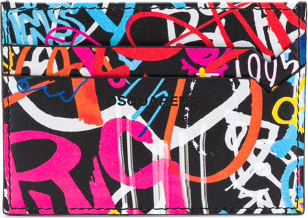 DSQUARED2 Graffiti print card holder
