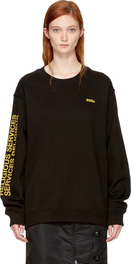 032c SSENSE Exclusive Black 'Religious Services' Sweatshirt