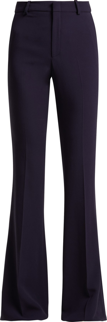 Gucci High-rise kick-flare cady trousers