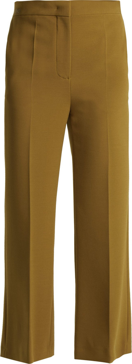 Fendi Cropped cady trousers