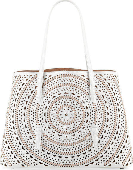 Alaïa Laser-Cut Leather Tote Bag