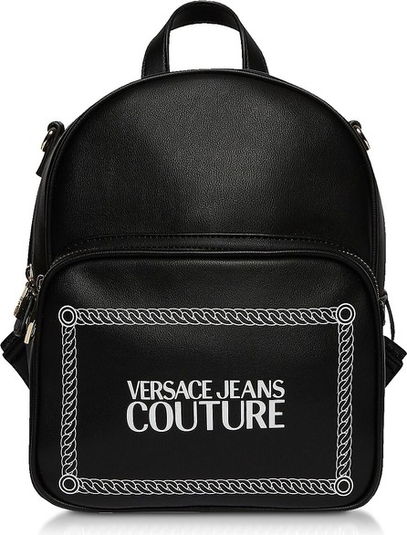 Versace Jeans Couture Black and White Signature Backpack