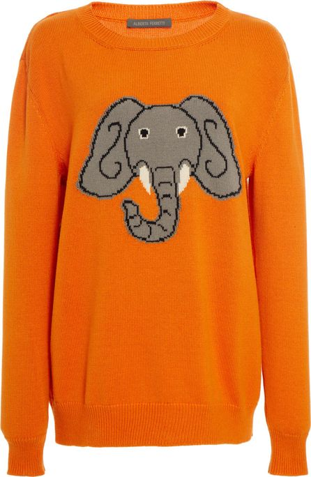 Alberta Ferretti Elephant Cotton Sweater