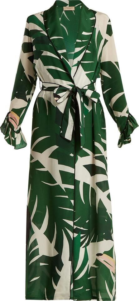 Adriana Degreas Printed silk crepe maxi dress