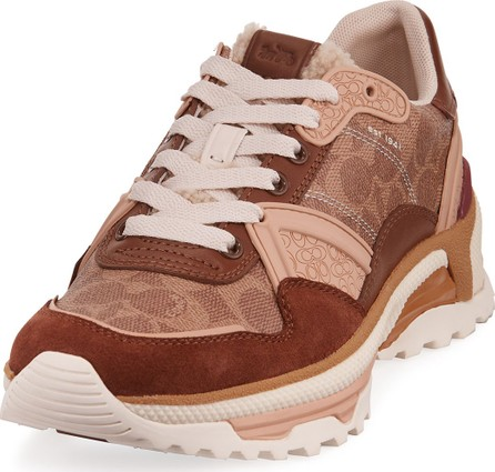 COACH Men's C143 Signature Mixed-Media Running Sneakers