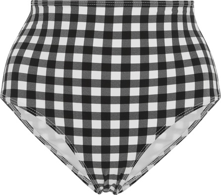 Ephemera Gingham High-Rise Bikini Breifs