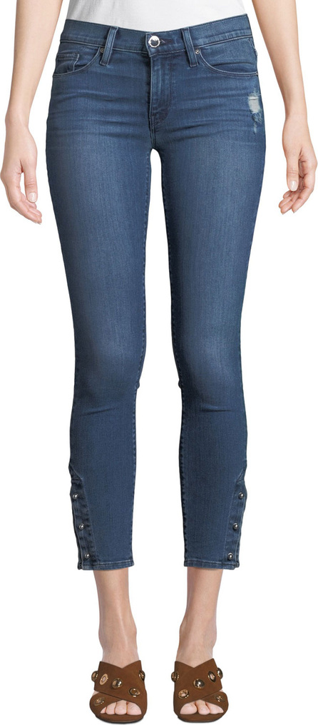 Hudson Nico Mid-Rise Cropped Skinny Jeans with Pierced Hem