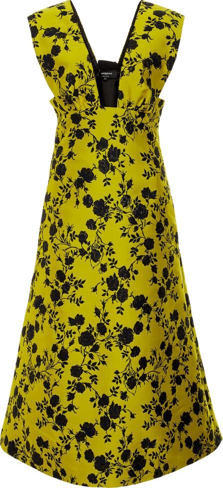 ROCHAS Printed Crepe De Chine Midi Dress
