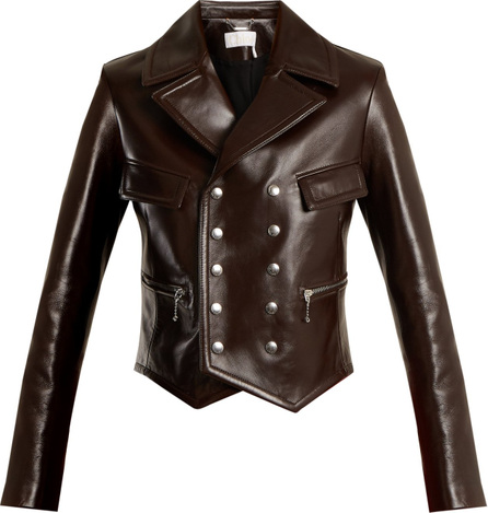 Chloe Double-breasted leather jacket