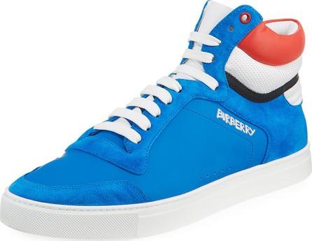 Burberry London England Men's Reeth Suede High-Top Sneakers