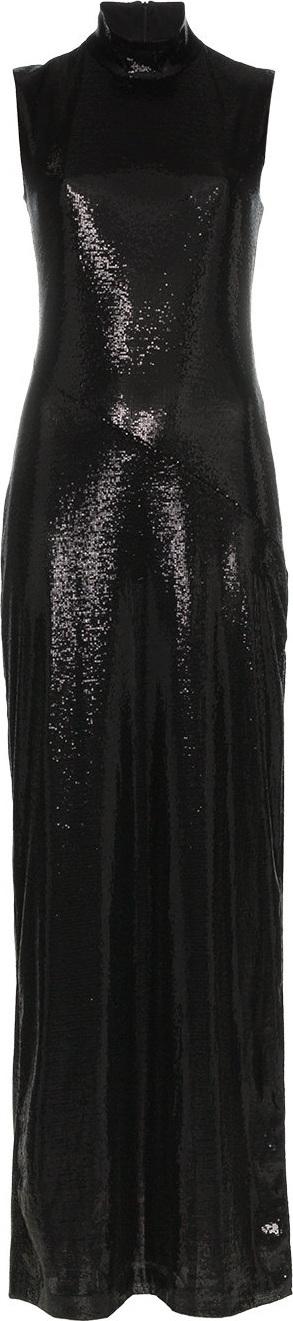 Galvan Black Galaxy sleeveless sequin dress