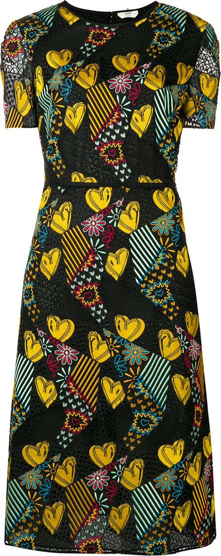 Fendi Heart print dress