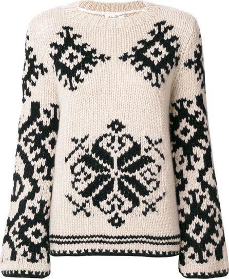 Antonia Zander patterned knit jumper