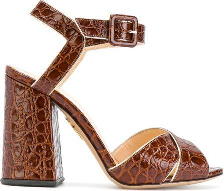 Charlotte Olympia croc effect sandals