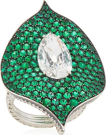 Bayco Platinum, Emerald & Diamond Ring