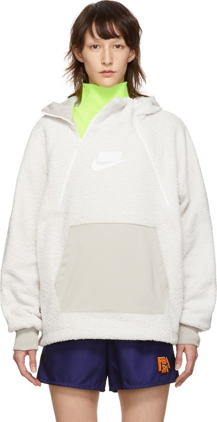 Nike White NSW Sherpa Hoodie
