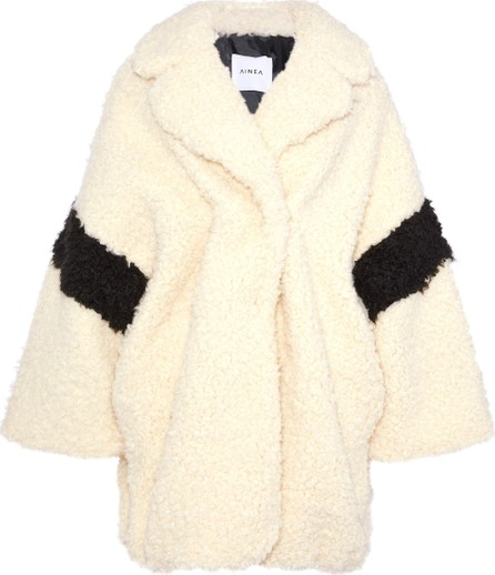 Ainea Two-tone faux shearling coat