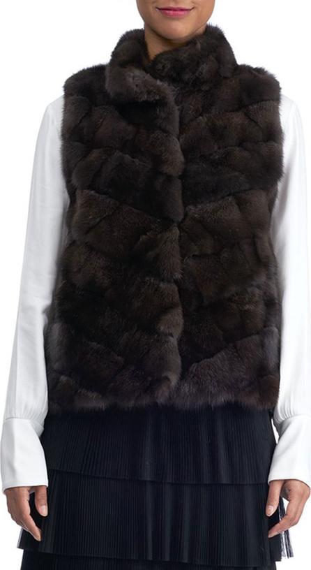 Gorski Chevron Sable Fur Vest
